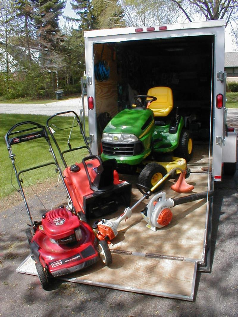 Mobile Service Fully Equipped Trailer